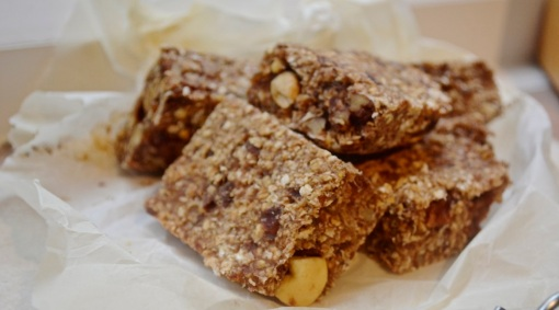 sugar free date and nut flapjacks