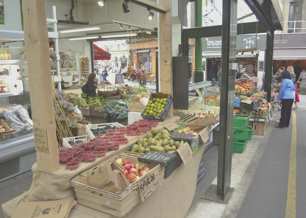Borough Market veg stall