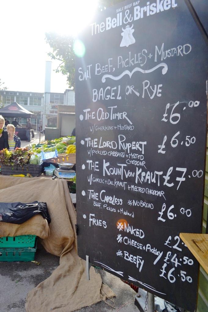 bell brisket newington green market london menu gastrogays
