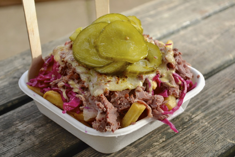 beefy chips market newington green london pickle beef chips cheese cabbage