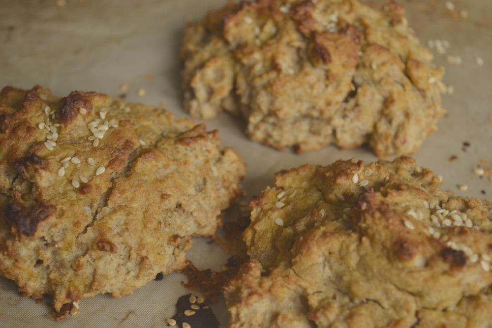 savoury seaweed scones cheese mustard sesame seed dulse dillisk baking Irish