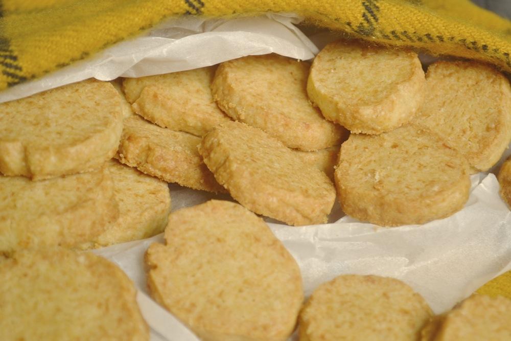 shortbread baking snack dijon mustard parmesan
