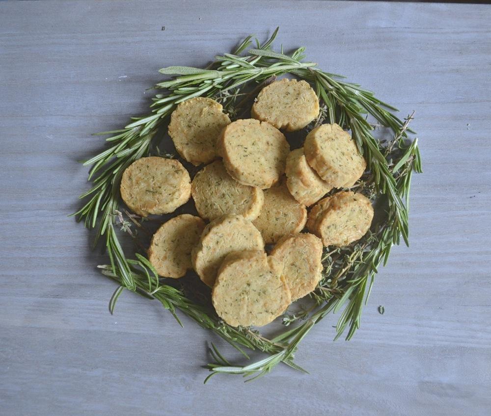 shortbread baking snack herbs parmesan thyme rosemary