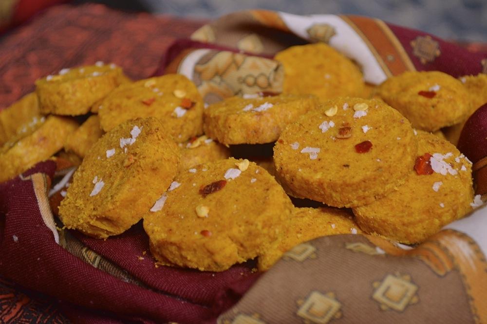 shortbread baking snack turmeric cayenne salt