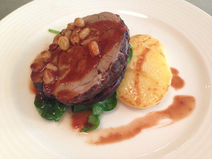 Fallon & Byrne wexford lamb main course restaurant dublin