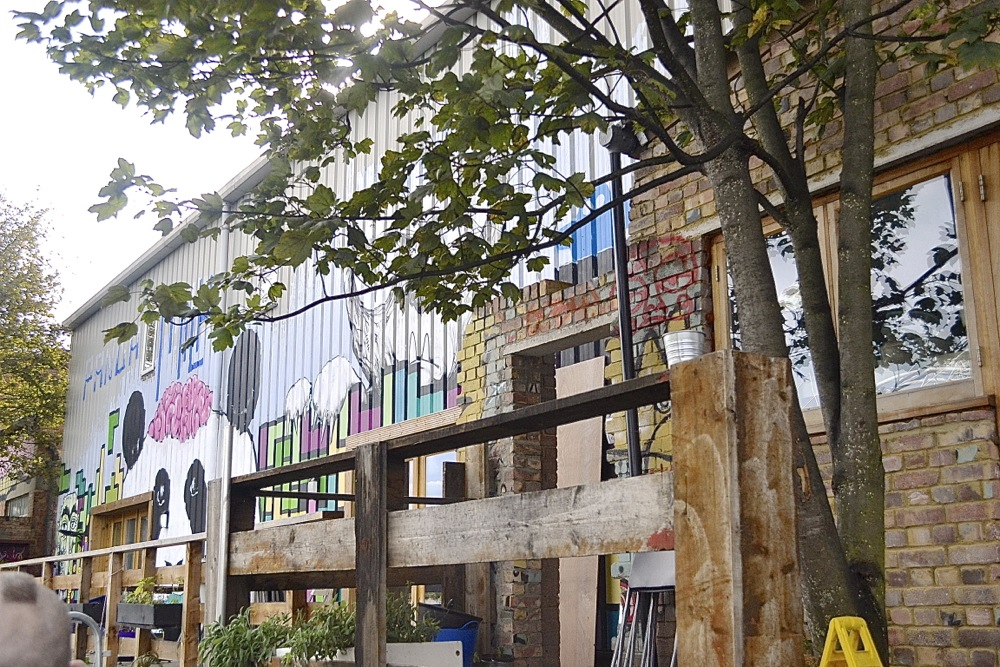 the counter hackney london café restaurant art mural graffiti outdoors