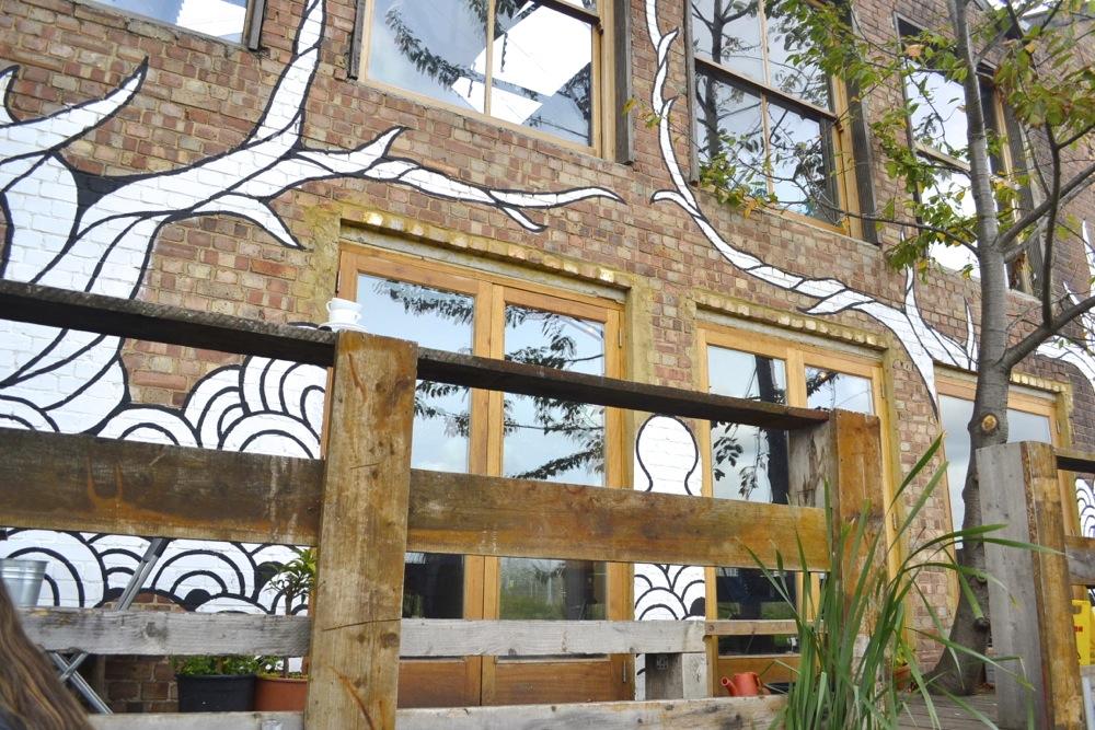 The counter art door exit back entrance hackney lunch restaurant café hackney London