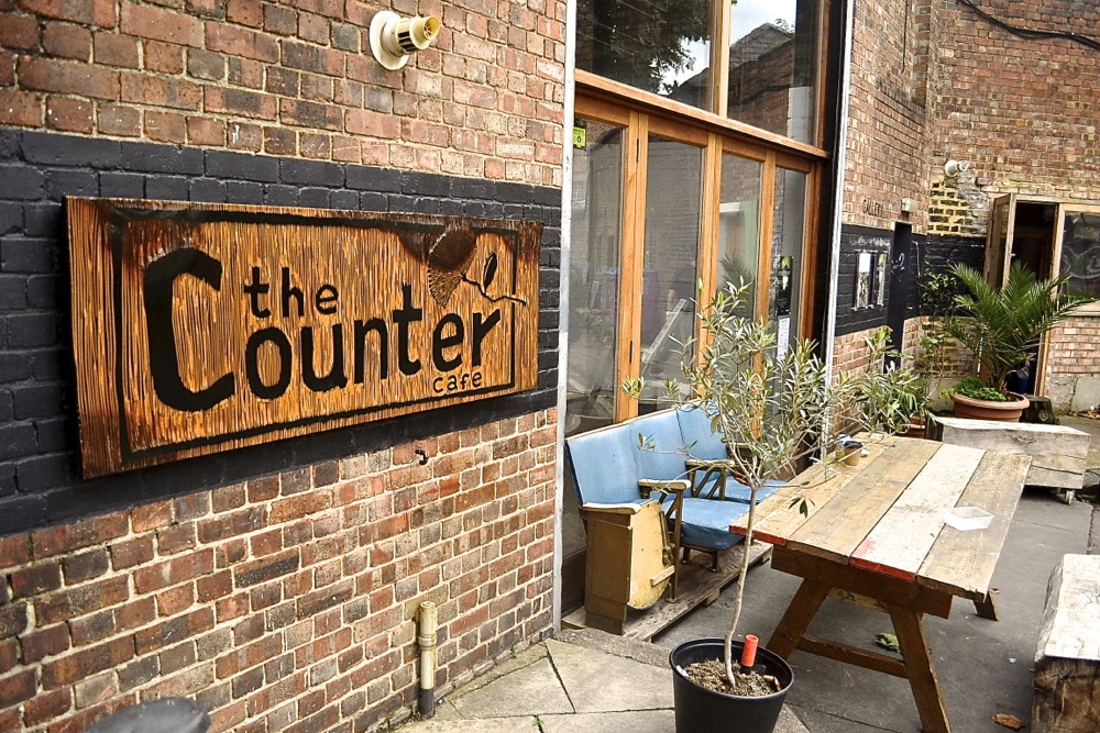 the counter cafe restaurant hackney brunch art gallery