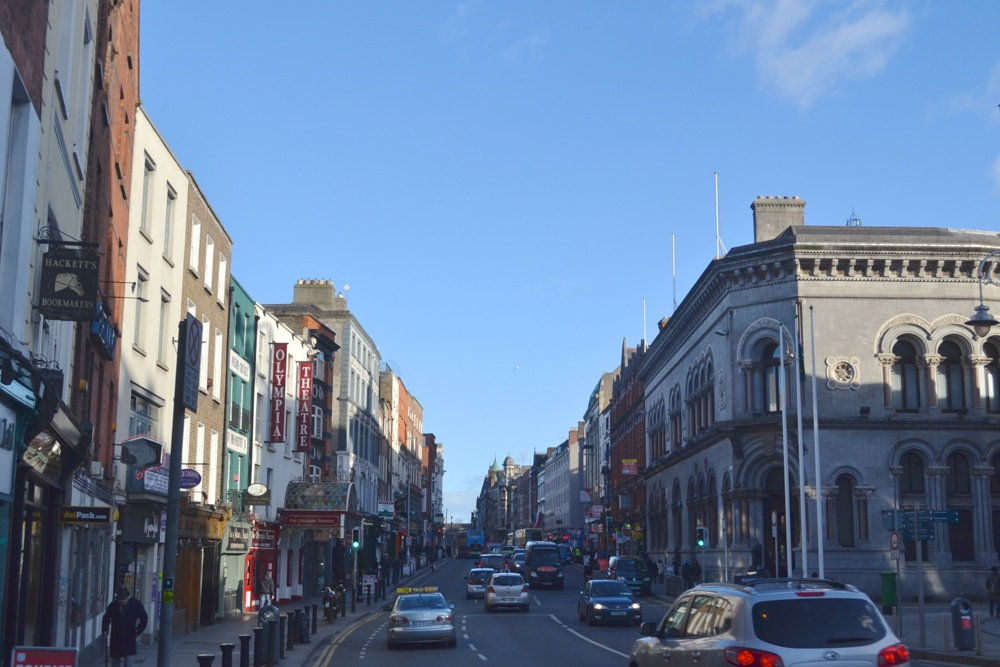 dame street dublin castle view olympia theatre