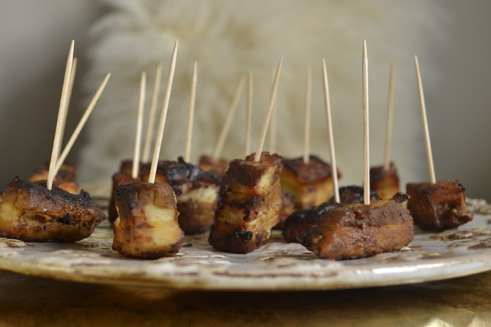 pork belly canapés nibbles starters finger food