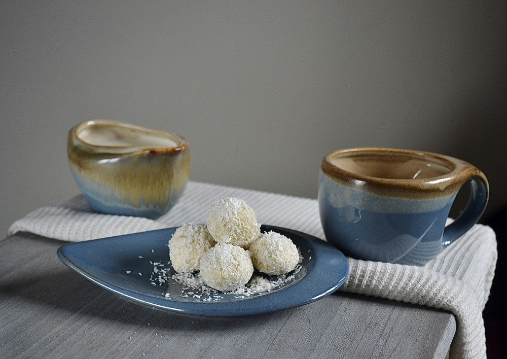 snowflake truffles chocolate coconut tea coffee party