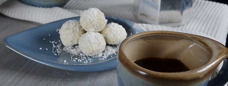chocolate snowflake coconut truffles coffee party dinner
