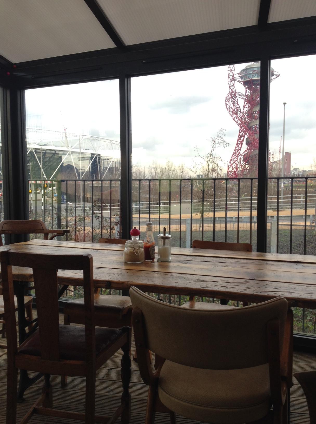 cafe olympic park moka east stratford view tube london
