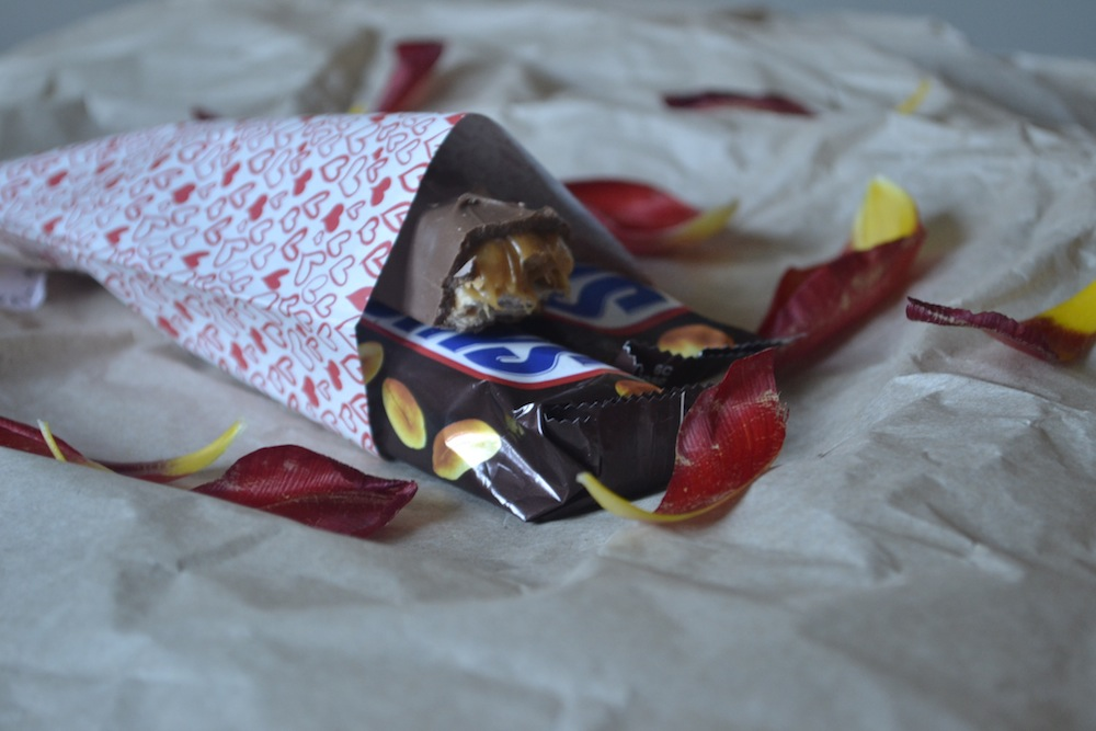 frozen chocolate valentines petals