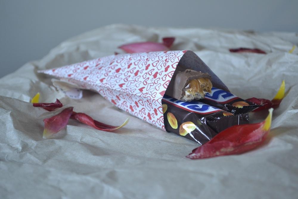 snickers frozen valentines petals chocolate
