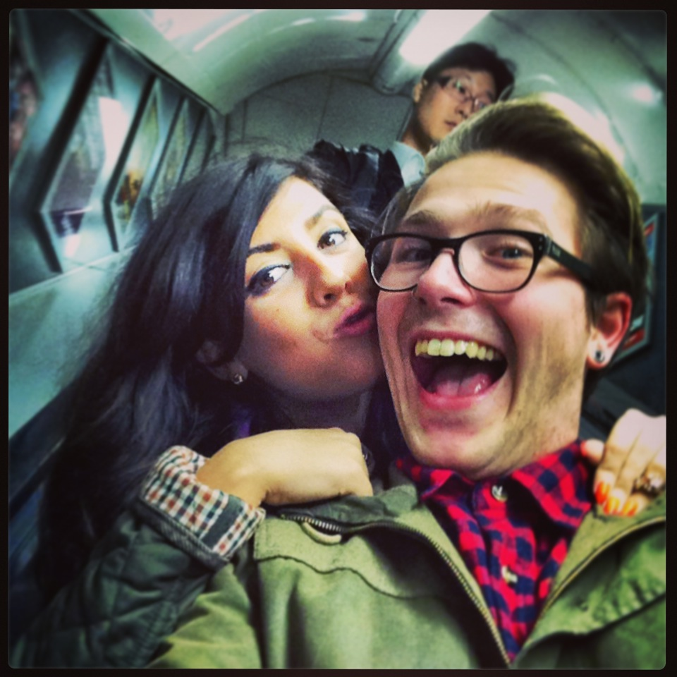 Katie Crooks BBC russell james alford tube escalator selfie