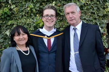 russell james alford, graduation, parents