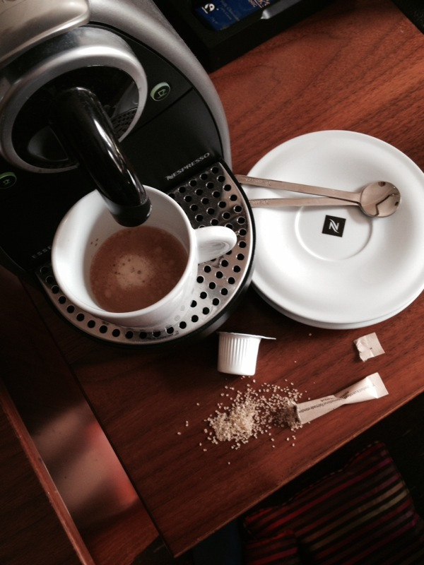 nespresso machine, pixie nespresso, hotel coffee, mercure hotel, southgate hotel exeter