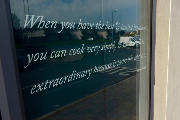 alice waters, cookery quote, brown hound, drogheda bakery