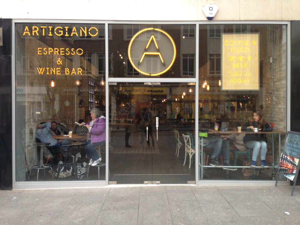 artigiano exeter, coffee shop exeter, artigiano coffee