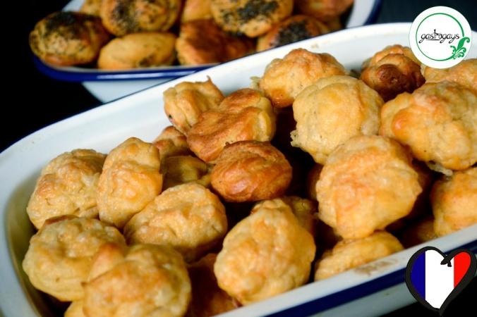 gougeres, french cheese puffs, poppyseed choux, cheese choux, little paris kitchen, rachel khoo recipe