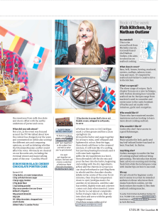 guardian, guardian cook, gastrogays, feature, print media, eurovision, party, eurovision party, europe, a song for europe, porter cake, chocolate, cherry
